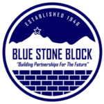 "Blue Stone Block ""Building Partnerships For The Future"""